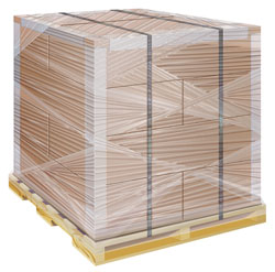 Stretch wrap pallet