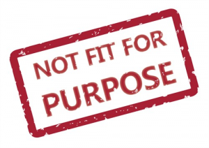 not fit for purpose stamp