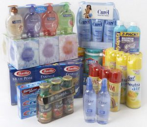 Products wrapped in Cryovac shrink film