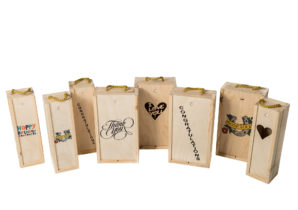 Printed Wooden Wine Boxes