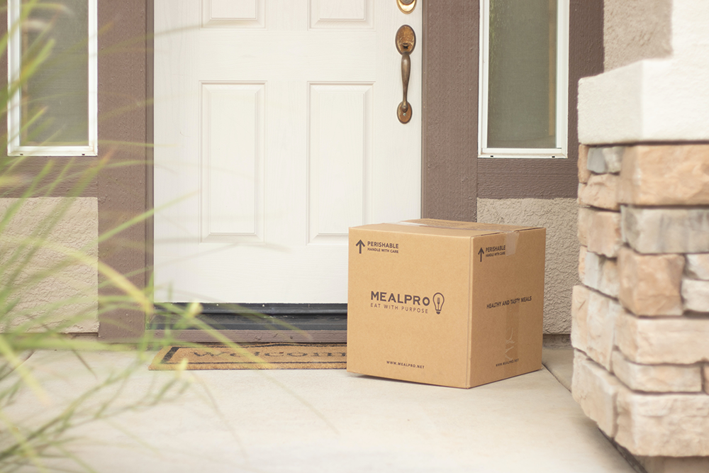 box on doorstep