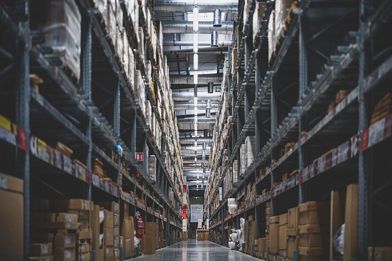 packaging storage in warehouse